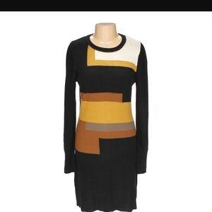 Vince Camuto colorblock sweater dress